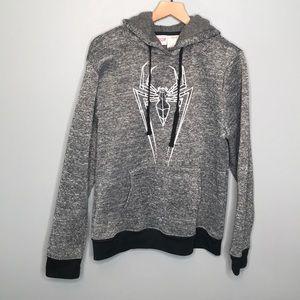 Marvel Spider Man fleece hoodie sweatshirt sz L